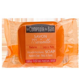 Sage Mandarin Traditional Marseille Soap