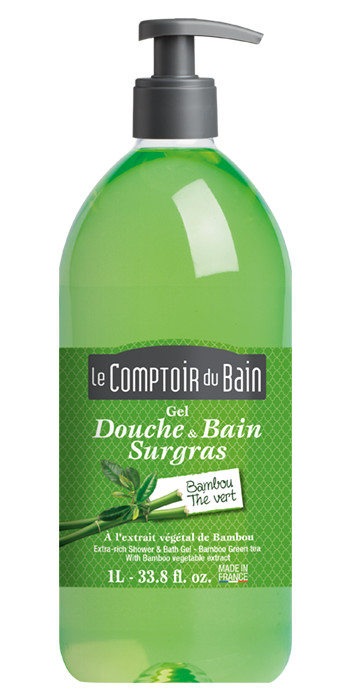 Extra-Rich Shower and Bath Gel - Bambou Green Tea