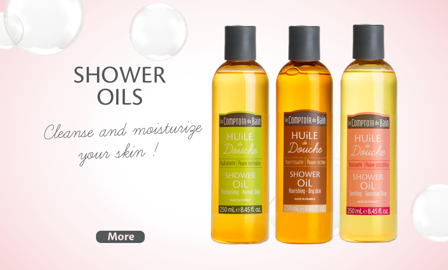 Cleanse and moisturize your skin with shower oils !